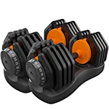 Thole Fitness Dumbbell Adjustable Set for Male and Female Equipment Home Training Arm Muscle Gym Barbell Effective Strength Exercise Biceps Your,50KG(252)