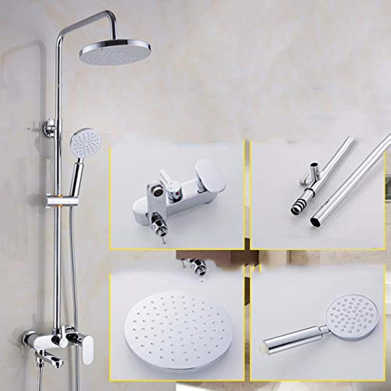 Duschset Dusche Dusche Dusche Raffiniertem Kupfer Im Bad Dusche Bad Dunkel,A