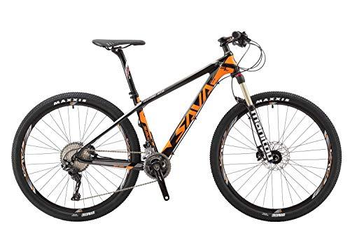 "SAVADECK 700 Carbon Fiber Mountain Bike 26""/27.5""/29"" Complete Hard Tail MTB Bicycle 22 Speed"