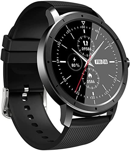 PKLG Reloj inteligente HW21 hombres mujeres 1.28 pulgadas pantalla completa impermeable Bluetooth sueño Monitores actividad seguimiento fitness ritmo cardíaco reloj de los hombres (D)