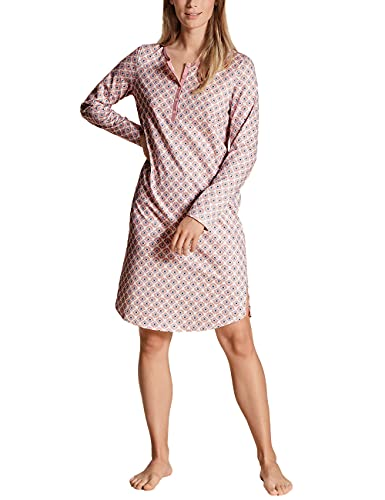 CALIDA Damen Lovely Nights Nachthemd Langarm Pyjamaoberteil, Rose Bud, 40-42