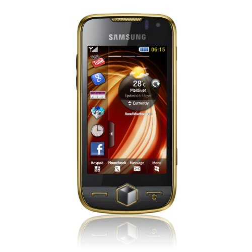 Samsung S8000 Jet Smartphone (Touchscreen, 5MP Kamera, WLAN, HSDPA) schwarz/gold
