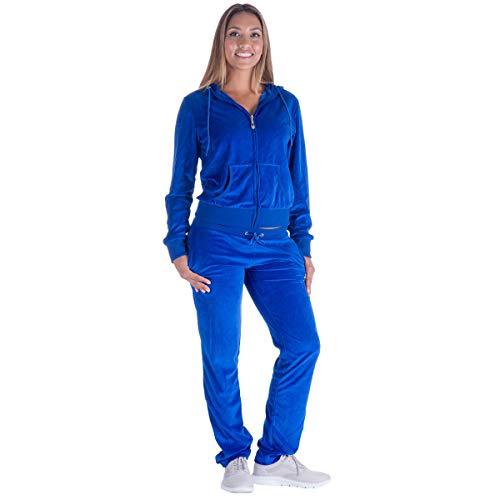 Mavis Garments Damen 2 stück sweatsuits tracksuits velvet outfits hoodie & hose groß koralle