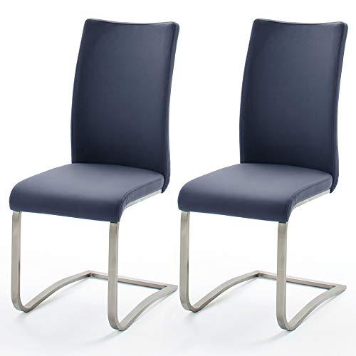Robas Lund silla mecedora Arco Juego de 2 Cappuccino de cuero / Negro / Negro / Gris / Blanco / medianoche inoxidable 43x103x52 cm