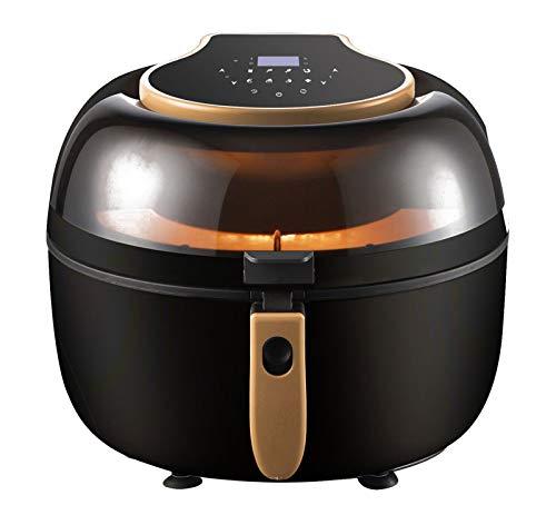 WOCTP Luftfrate mit digitalem Display Mini-Backofen, Backen, Braten und Rösten Ideal für Chips, Huhn und Gemüse