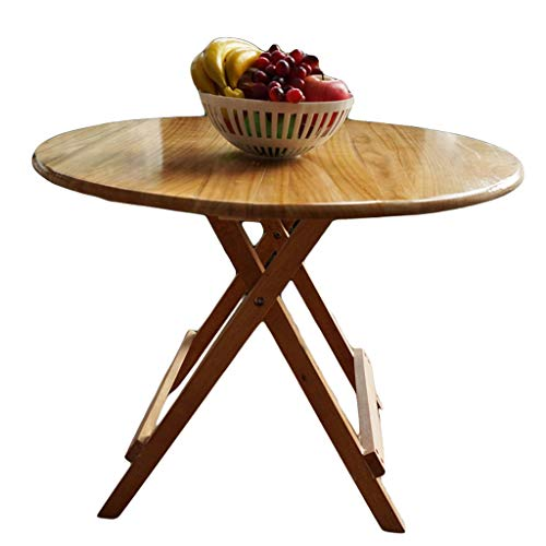 LITING Table à Manger Pliante en Bois Massif, Table de Salle à Manger, Petit Appartement (Size : 86 Diameter -75 Height)