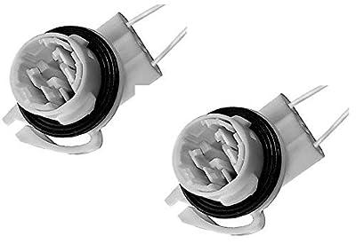 Michigan Motorsports QTY 2 Daytime Running Lights Turn Signal Socket for 4157 3157 4114 Bulbs, 2 Wire