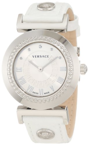 Versace Women's P5Q99D001 S001'Vanitas' Stainless Steel Watch with Leather Band
