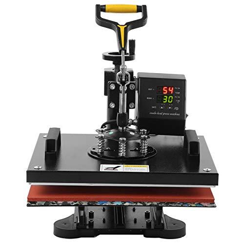 Máquina de prensa de calor Impresora de transferencia de calor 220V 1400W para aplicar etiquetas de color para camisetas, tazas