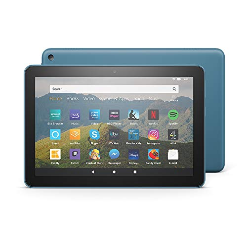 Fire HD 8 Tablet, 8' HD display, 32 GB, Twilight Blue - with Ads, designed for portable entertainment