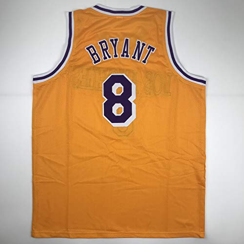 Unsigned Kobe Bryant #8 Los Angeles LA Yellow Custom Stitched Basketball Jersey Size Men's XL New No Brands/Logos