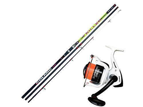 Kit da pesca per surfcasting canna colmic triller e mulinello supreme cx8000
