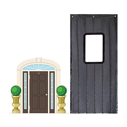 GGYMEI Cortina De Puerta, Ventana Transparente A Prueba De Frío E Impermeable Adecuado for Escuelas Hospitales Dormitorios Paño De Oxford, 15 Tamaños (Color : Gray, Size : 110x220cm)
