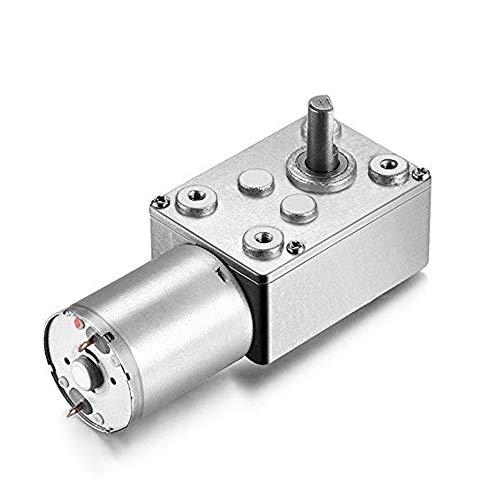 AZSSMUK Motor eléctrico de reducción de 12 V CC con motor de alto par con caja de cambios para ventanas, abridor de puertas, cabrestante en miniatura (25 rpm, 12 voltios)
