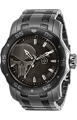 Invicta Marvel Punisher Orologio da uomo al quarzo Gunmetal Dial 32420