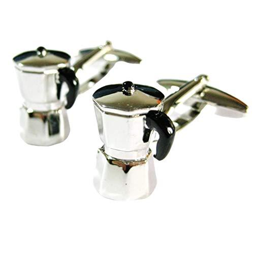 Tailor B 230209-1 Manschettenknöpfe, italienische Kaffeemaschine, Gemelos