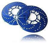 【Piece of peace product】 ダミー ディスク ブレーキ ローター 2枚セット ドラムブレーキ が 大変身 ドレスアップ ワゴン車 ミニバン カスタム車 等 4穴 5穴 対応 (ブルー)