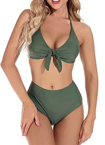 UMIPUBO Bikini Mujer Elegante Traje de Baño Conjunto Bañador Ropa de Playa Cintura Alta Tops y Braguitas Dos Piezas Bikini Sets Talla Grande