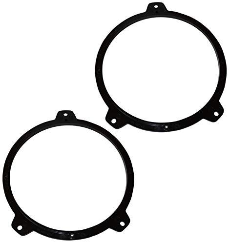 Aerzetix: 2 Adaptadores soportes de Altavoces - 165mm - Puertas Delanteras - Estante Trasero – para Automóvil