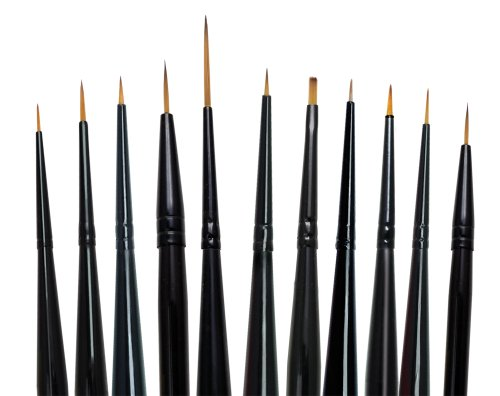 Majestic Royal and Langnickel Short Handle Paint Brush Set