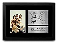 HWC Trading FR Friends Gifts A4 Signed Printed Autograph Framed Print Photo Joey Chandler Ross Phoeb...