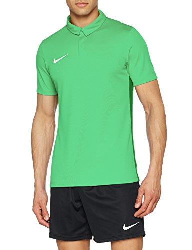 Nike Academy18, Polo Uomo, Lt Spark/Pine Green/Bianco, L