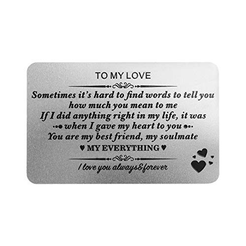 Personalized Engraved Message Metal wallet card for men