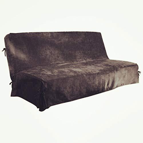 Antonouse Fodera per divano a 3 posti senza braccioli Fodera per divano Clic Clac fodera per divano letto (antracite)