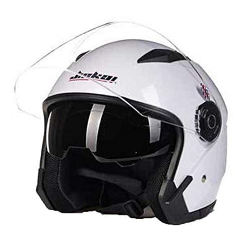 Hombres Mujeres Dual Lens Open Face Motocicleta Crash Helmet Abs Anti Fall Material A Prueba De Golpes Bicicleta Eléctrica Moto Scooter Gorras De Seguridad 57-64cm