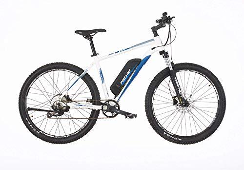 FISCHER E-Mountainbike MONTIS 2.0, E-Bike MTB, perlweiß matt, 27,5 Zoll, RH 48 cm, Hinterradmotor 45 Nm, 48 V Akku