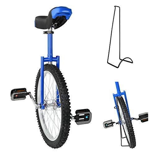 Triclicks 20'' Monociclo+Soporte,Monociclo Entrenador para Chicos/Adultos Balance Ciclism Ejercicio Bicicletas Monociclo Bicicleta de Una Rueda Monorrueda Altura Ajustable Unicycle