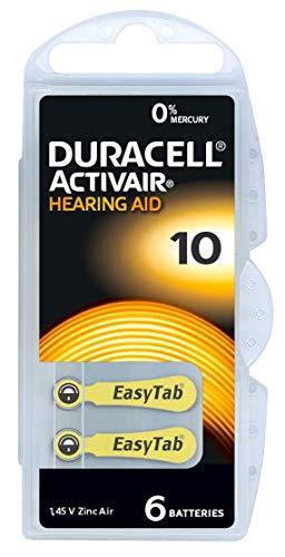 60 Stück (10 Blister) Duracell Typ 10 Hörgerätebatterie Zinc Air P10 PR70 ZL4 mit 2 Stück LUXTOR® Reinigungstücher für Hörgeräte und Otoplastiken