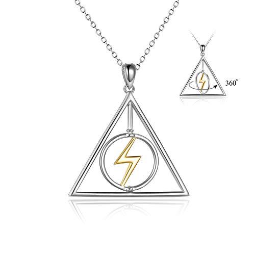 YFN Harry Potter Halskette Sterling Silber Harry Potter Anhänger Schmuck Harry Potter Geschenke für Frauen Männer