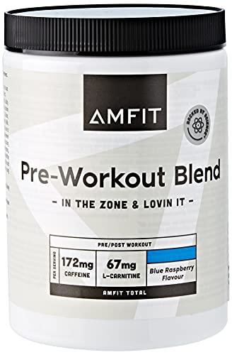 Amazon-Marke: Amfit Nutrition Vor dem Training, Blaue Himbeere-Geschmack, 360g