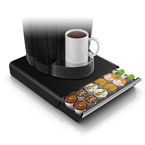 Mind Reader Für 36 K-Cup, 42 CBTL/Verismo/Dolce Gusto 2.64 in. high x 12.91 in. wide x 13.19 in. deep schwarz