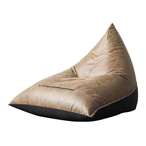 DXX-HR Tumbona Bolsa de Frijol sofá, sofá Silla Baja sillón Puff sofá de Espuma de Memoria Silla de Interior y al Aire Libre, Tela Oxford Resistente a Las Manchas y con Bolsillo Lateral
