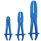 CCLIFE Kit 3 Pezzi Pinze Stringitubo Fascetta Tubo Flessibile Morsetto Freno Libero Pinza Attrezo Morsetti Tubi Flessibili