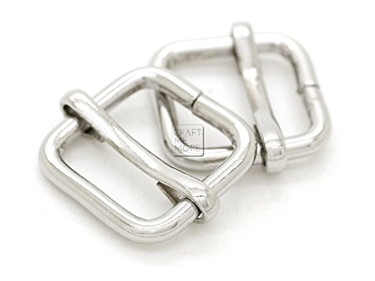 CRAFTMEmore Movable Bar Slide Strap Adjuster Rectangle Strap Keeper Triglide Belt Keeper Purse Making 5/8