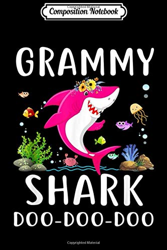 Composition Notebook: Grammy Shark Doo Doo Matching Family Shark Journal/Notebook Blank Lined Ruled 6x9 100 Pages
