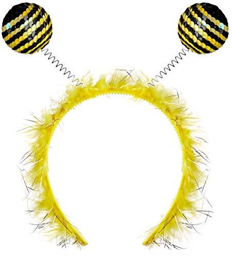 Balinco Haarreif Biene mit Fühlern für Damen & Mädchen als Accessoire für Ihr Kostüm zum Karneval