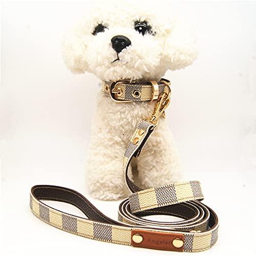 Juego de collar de perro, collar de correa para mascotas, collar de perro fuerte, ajustable, para entrenamiento de perros pequeños/medianos/grandes, caminar, correr (L,Estilo 1)