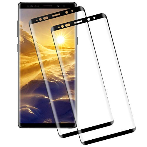 Miuphro Screen Protector for Samsung Galaxy Note 9[2 Pack],Samsung Galaxy Note 9 Tempered Glass, Anti-Fingerprint+ 9H Hardness+ Crystal Clear Bubble Free+ Anti-Scratch