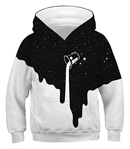 PIZOFF Unisex Sweater Kids Hoodie Cup Milk Pullover 3D Print Tops with Pockets for 3-14T
