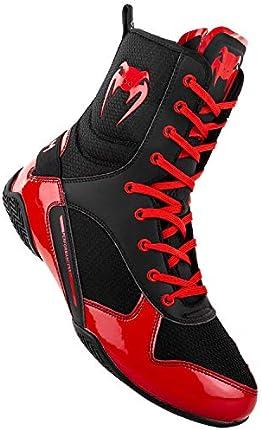 Zapatos de boxeo Venum Elite - Negro/Rojo - Talla 8.5 (42)