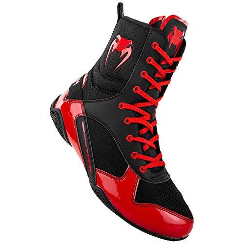 Venum Elite, Zapatillas de Boxeo Unisex Adulto, Multicolor (Negro/Rojo 100), 42 EU