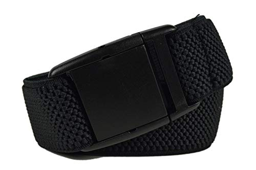 Olata Cinturón Elástico para los Niños/Niñas 5-15 Años con Hebilla de Plástico. Negro