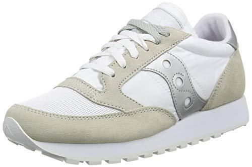 Saucony Jazz Original Vintage White/Silver, Zapatillas de Atletismo Unisex Adulto, clanc/Argent, 41 EU