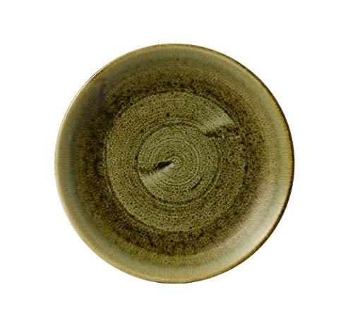 Kadida Churchill Stonecast - Juego de 12 platos (diámetro: 28,8 cm), color verde