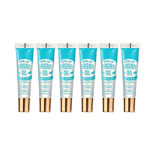 Kiss Broadway Clear Lip Gloss (Argan Oil) 6-PACKS (will have your lips looking so beautiful)