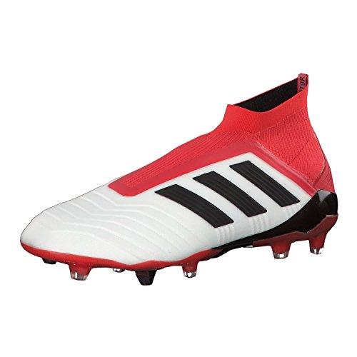 Adidas Predator 18+ FG, Botas de fútbol Hombre, Blanco (Ftwbla/Negbas/Correa 000), 48 EU